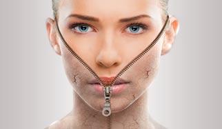 visage et peau qui pèle
