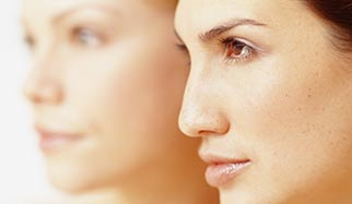 visages de femme avec une belle peau
