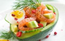 salade avocat saumon