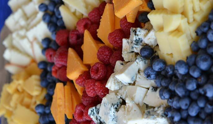 fromage et fruits : acide et base