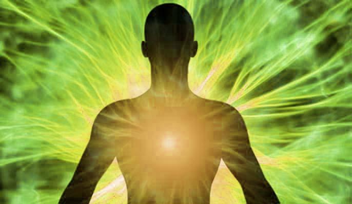 Energie et feu intérieur du corps