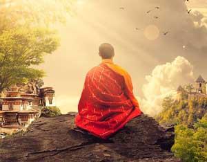moine en méditation zen