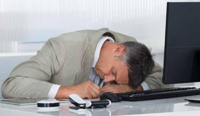 sommeil au bureau