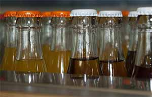 Bouteilles de sodas